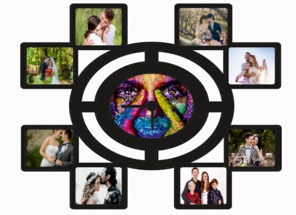 Customized Wall Clock Photo Frame