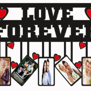 Customized Couple Frame With Text 5 Photos