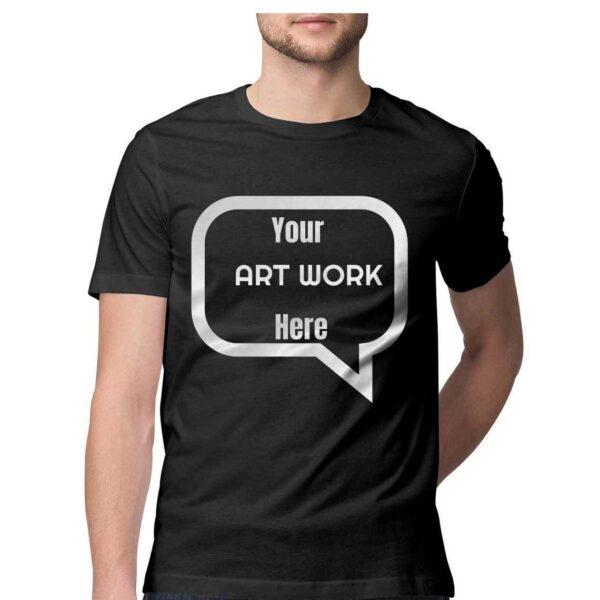 Custom Men's T-Shirt Black