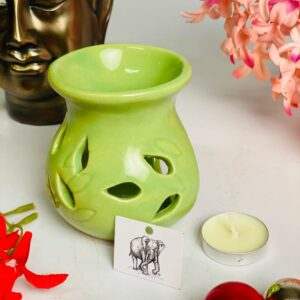 Ceramic oil aroma diffuser with 2 tealights