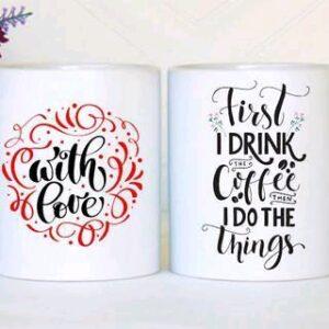 Trendy Coffee Mugs Pack of 5