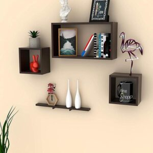 Floating Wall Shelves (Set of 4) (Code: C745343)