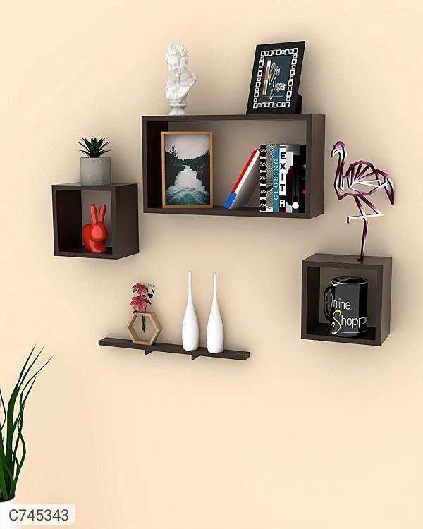 Floating Wall Shelves Set of 4 Code C7453431