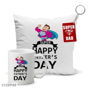 Gift Printed Coffee Mug, Cushion Cover & Keychain Combo
