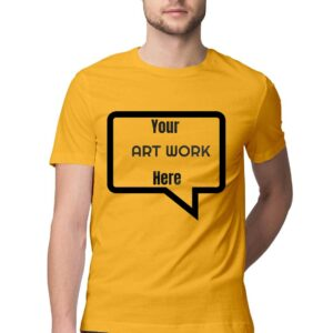 Custom Men's T-Shirt Golden Yellow 180 GSM