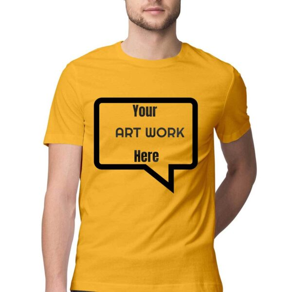 Custom Men's T-Shirt Golden Yellow