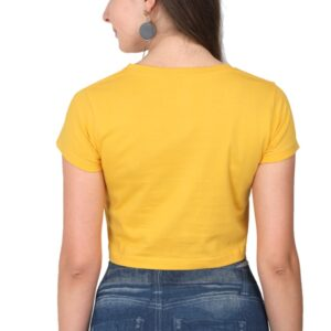 Custom Women's Crop Tops Golden Yellow 180 GSM