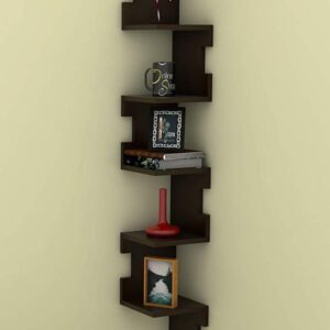 Zig Zag Floating Corner Shelves – Black (Code: C745347)