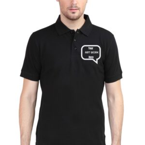 Custom Men's Polo Black