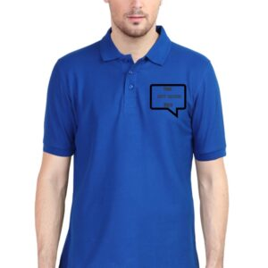 Custom Men's Polo Royal Blue