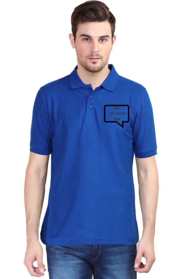 Custom Men's Polo Royal Blue