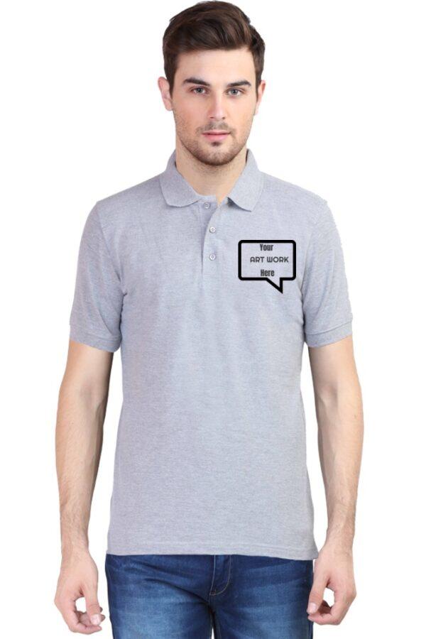 Custom Men's Polo Grey