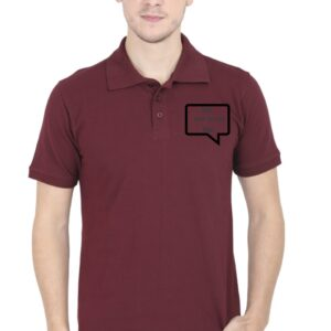 Custom Men's Polo Maroon