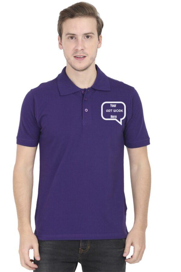 Custom Men's Polo Purple