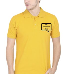 Custom Men's Polo Mustard Yellow