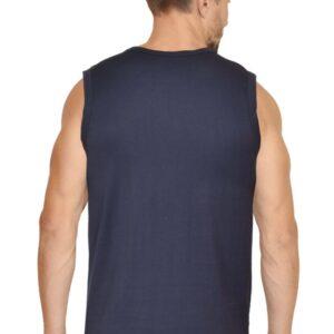 Custom Men's Gym Vest Navy Blue 180 GSM