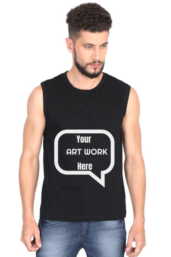 Custom Men's Gym Vest Black