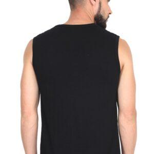 Custom Men's Gym Vest Black 180 GSM