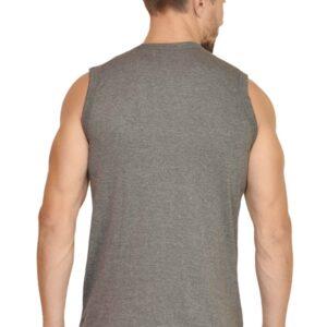 Custom Men's Gym Vest Charcoal Grey 180 GSM