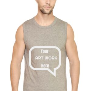 Custom Men's Gym Vest Grey