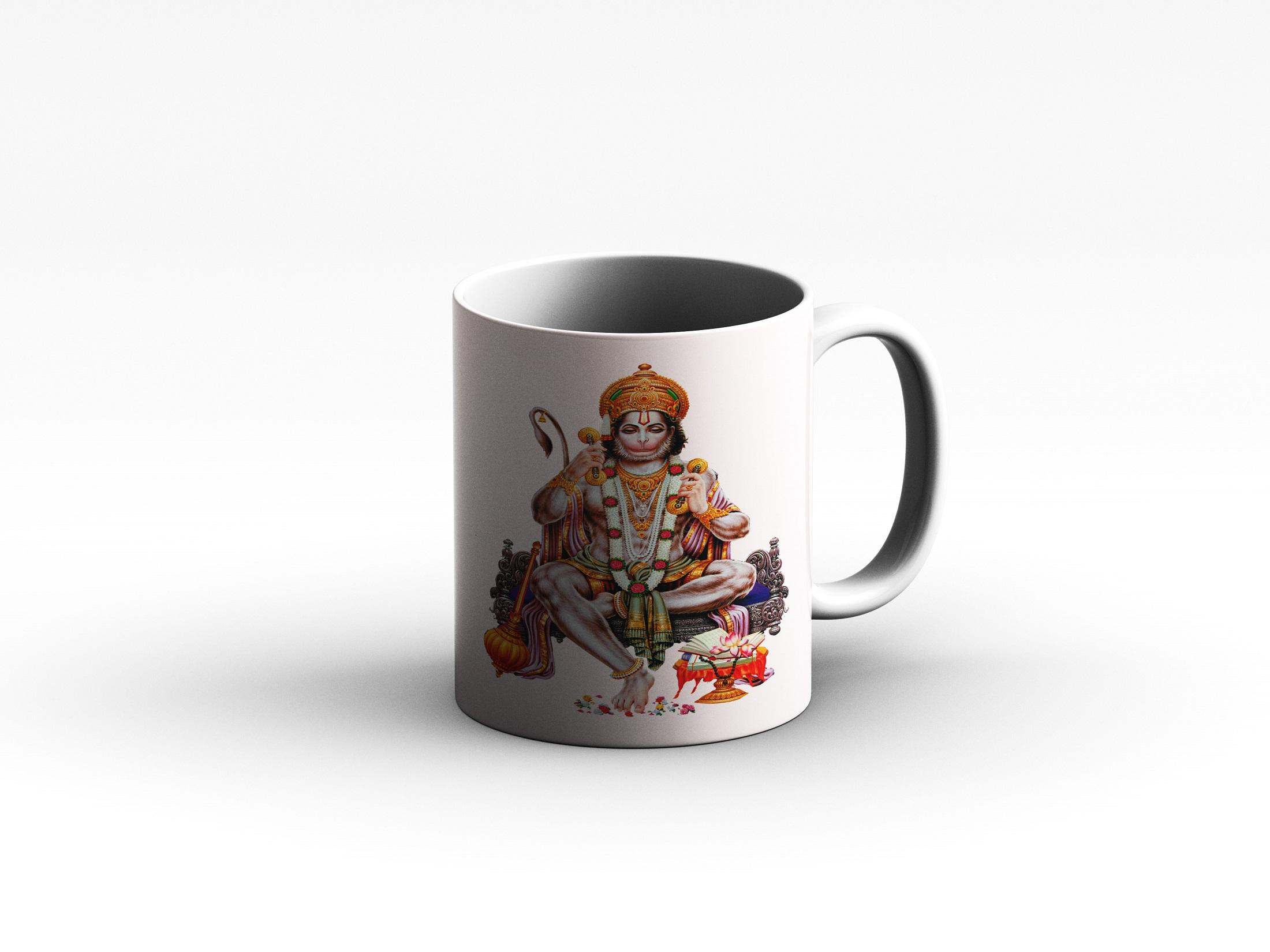 Mug Hanuman side White reduced