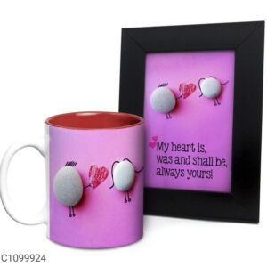 Printed 325 ml Ceramic Mugs with Photo Frames Vol- 5