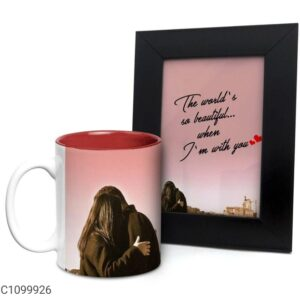 Printed 325 ml Ceramic Mugs with Photo Frames Vol- 6