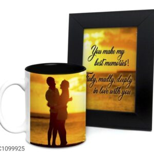 Printed 325 ml Ceramic Mugs with Photo Frames Vol- 7