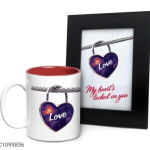 Printed 325 ml Ceramic Mugs with Photo Frames Vol- 8