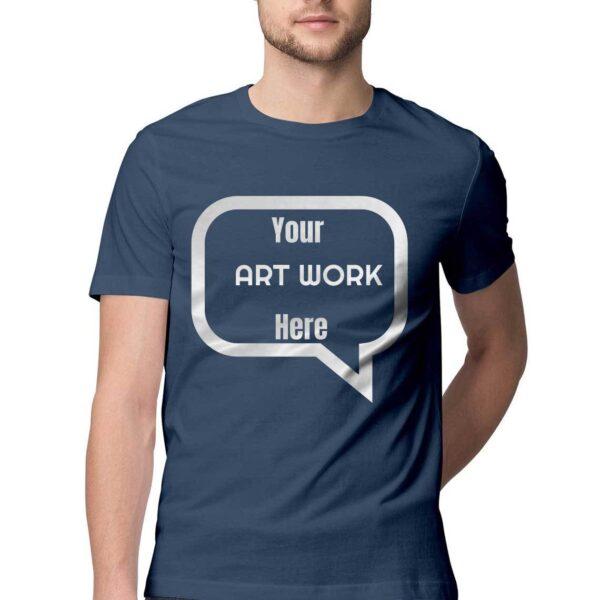 Custom Men's T-Shirt Navy Blue