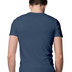 Custom Men's T-Shirt Navy Blue 180 GSM