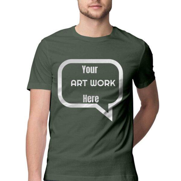 Custom Men's T-Shirt Olive Green