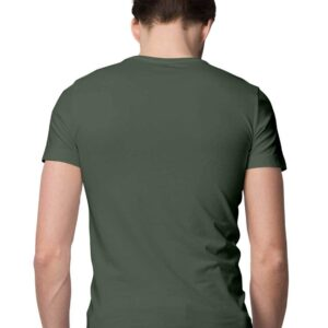 Custom Men's T-Shirt Olive Green 180 GSM