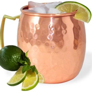 Pure Copper Hammered Moscow Mule Beer Mug Cup  400 ML Set of 2
