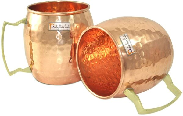 Pure Copper Hammered Moscow Mule Beer Mug Cup2