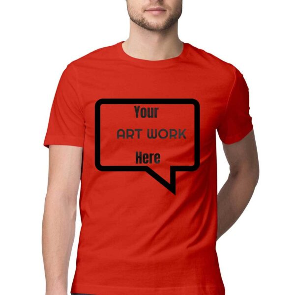 Custom Men's T-Shirt Red