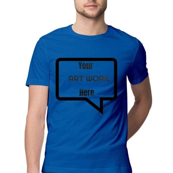 Custom Men's T-Shirt Royal Blue