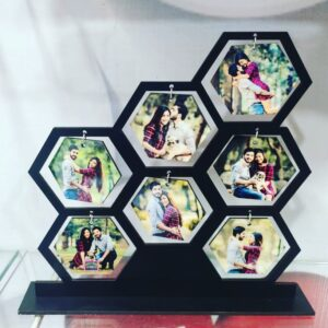 Personalized  7  Photos Table Top Wooden Frame