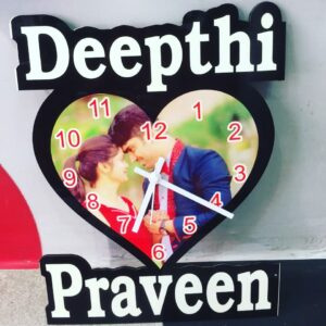 Customized Wall Clock With Text