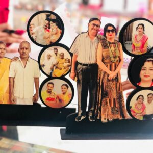 Personalized 6 Photo Cutout Table Top