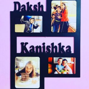 Custom Wall Photo Frame with text 4 Photos