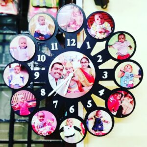 Custom Wall Clock Photo Frame 13 Photos