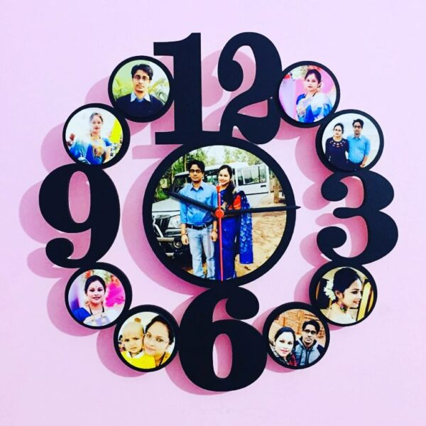 Customized Wall Clock Frame 9 Photos