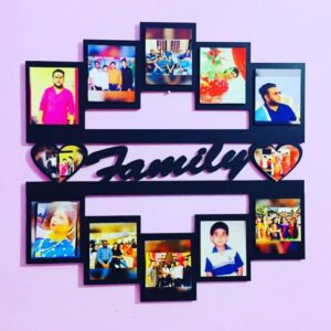 Customized Wall Photo Frame with Text 12 Photos