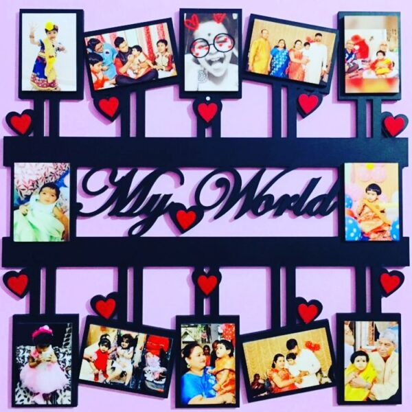 Customized Wall Photo Frame with Text