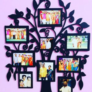Customized Wall Tree Photo Frame 9 Photos