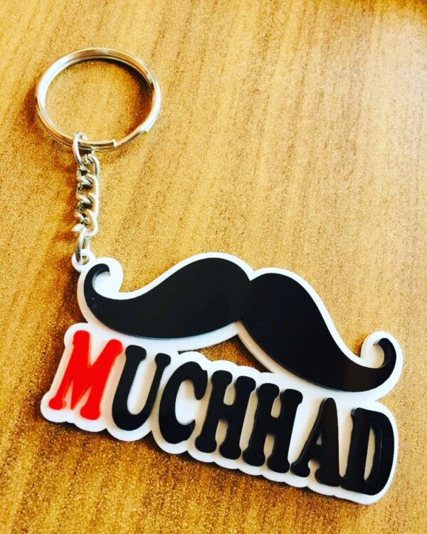 SBCMD1031 Customized Acrylics Mustache Keychain2