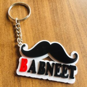 Customized Acrylics Mustache Keychain