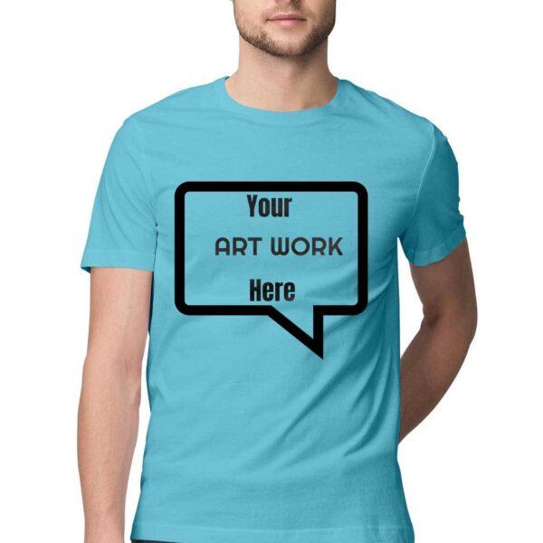 Custom Men's T-Shirt Sky Blue