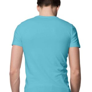 Custom Men's T-Shirt Sky Blue 180 GSM